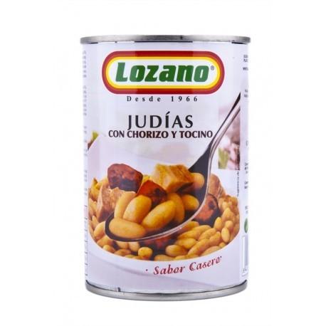 Lozano Judías con Chorizo Lata 425g