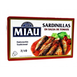 Miau Sardinillas en Salsa de Tomate Lata 85g (7-10ud)