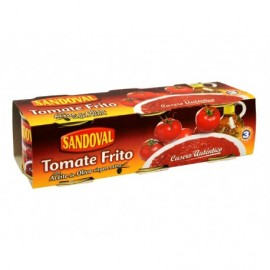 Sandoval Sauce Tomate Frite à l'Huile d'Olive Extra Vierge Pack 3x210g