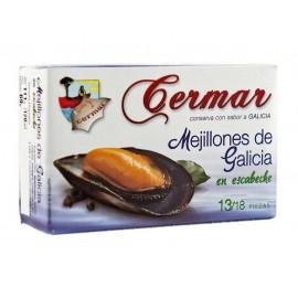 Cermar Tin 111g (13-18 units) Mussels Escabeche Sauce