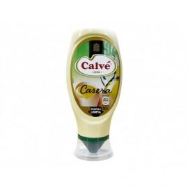 Calvé 400ml glass jar Homemade Mayonnaise Face Down