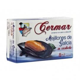 Cermar Moules Sauce Escabèche Conserve 111g (8-12 unités)