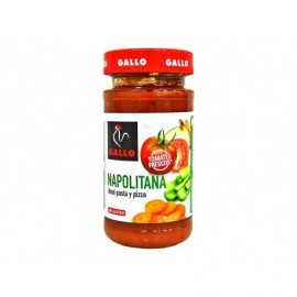 Gallo Salsa Napolitana Ideal para Pasta y Pizza Tarro 260g