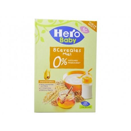 Hero Papilla 8 Cereales con Miel 0% Azúcares Caja 340g
