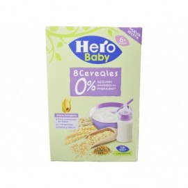 Hero Papilla 8 Cereales 0% Azúcares Añadidos Caja 340g