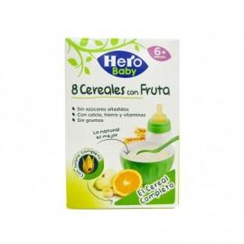 Hero Papilla 0% 8 Cereales con Fruta Caja 500g