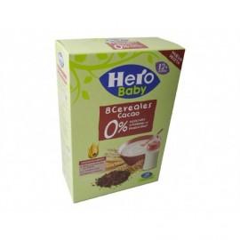 Hero 340g box 8 cereal porridge with cocoa