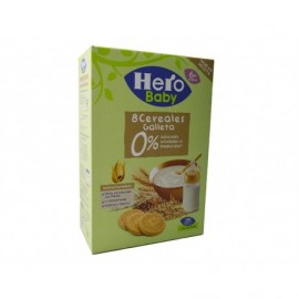 Hero 340g box 8 cereal porridge with 0% sugar cookie
