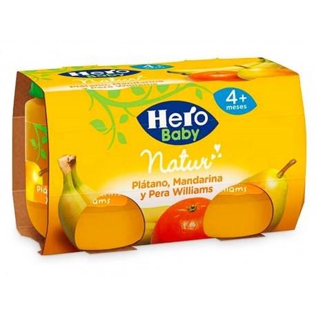 Hero Potitos de Plátano, Mandarina y Pera Williams Pack 2x120g