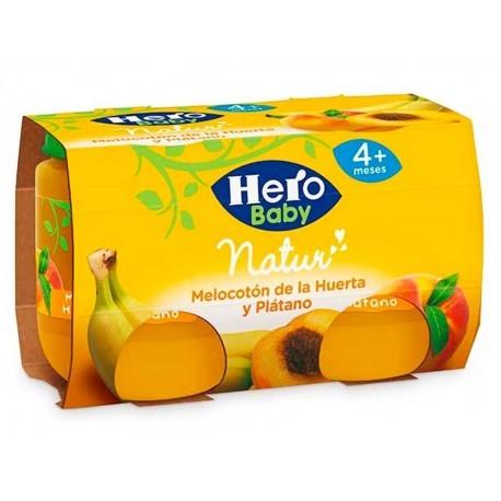 Hero Potitos de Melocotón de la Huerta y Plátano Pack 2x120g