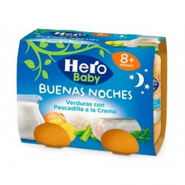 Hero Potitos de Verduras con Pescadilla a la Crema Pack 2x190g