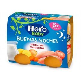 Hero Potitos de Pollo con Verduritas Pack 2x190g