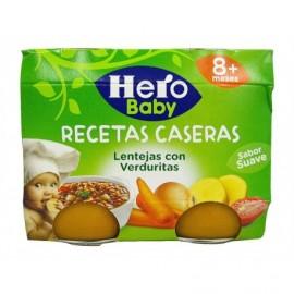 Hero Potito de Lentejas con Verduritas Pack 2x190g