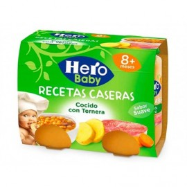 Hero Potitos de Cocido con Ternera Pack 2x200g