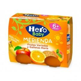 Hero Potitos de Mandarina, Manzana y Galletas María Pack 2x190g