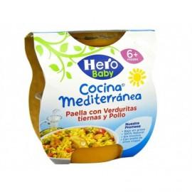 Hero Potito Cocina Mediterránea Paella Verduras y Pollo Pack 2x200g