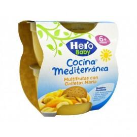 Hero Potito Cocina Mediterránea Multifrutas con Galleta Pack 2x200g