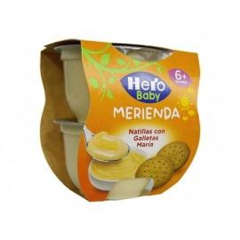 Hero Natillas con Galleta María Pack 2x130g