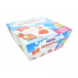Nestlé Dessert pour enfants Yogolino aux fraises Pack 4x100g