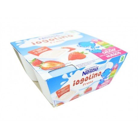 Nestlé Postre Infantil de Fresa Yogolino Pack 4x100g