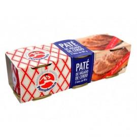 Pamplonica Pack 3x80g Pork liver pate