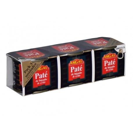 Argal Paté de Hígado de Cerdo Pack 3x80g
