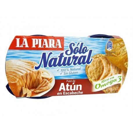 La Piara Paté de Atún en Escabeche Sólo Natural Pack 2x75g