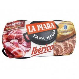 La Piara Paté Ibérico Tapa Negra Pack 2x73g