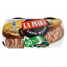 La Piara 2x73g pack Pâté -50% fat Tapa Negra