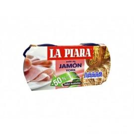 La Piara 2x75g pack Cooked ham pie