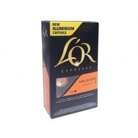 Marcilla Box of 10 Capsules Café Delizioso L'OR Espresso