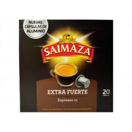 Saimaza Café Extra Fuerte Espresso 11 Caja 20 Cápsulas