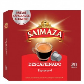Saimaza Café Descafeinado Espresso 6 Caja 20 Cápsulas