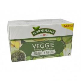 Hornimans Té Veggie Espinacas, Pera, Jengibre y Matcha Caja 20 ud