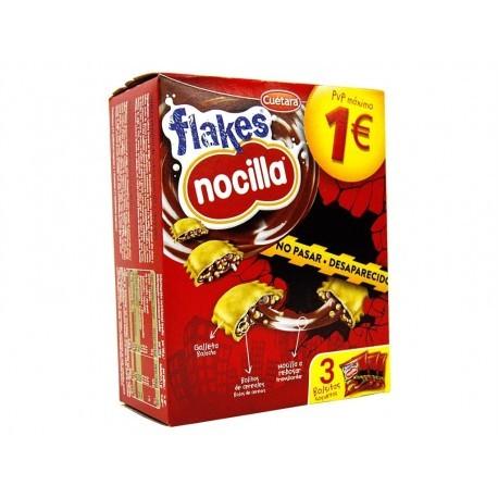 Cuétara Galletas Flakes Nocilla Caja 105g