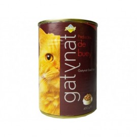 Gatynat Paté de Hígado de Buey para Gatos Lata 400g