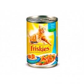 Friskies Alimento para Gatos de Salmón, Atún y Verduras Lata 400g
