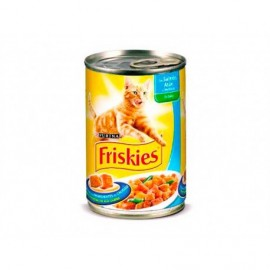 Friskies Cat food with salmon, tuna and vegetables canned 400g