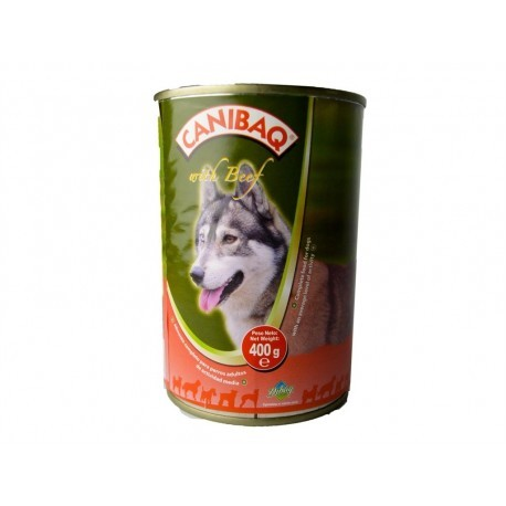 Canibaq Beef food for adult dogs canned 400g