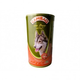 Canibaq Beef food for adult dogs canned 1200g