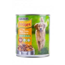 Friskies Alimento para Perros de Buey, Pollo y Verduras Lata 800g
