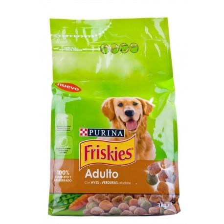 Friskies Alimento para Perros Adultos de Ave y Verduras Saco 3kg