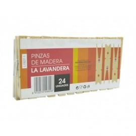 Betik Pinzas para Ropa de Madera La Lavandera Pack 24ud