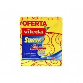 Vileda Bayeta Suave +30% Microfibras Pack 2ud (+1 Gratis)