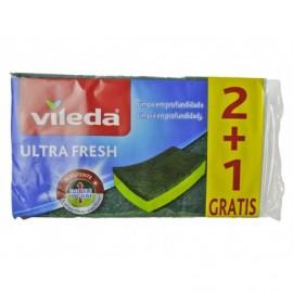 Vileda Estropajo Ultra Fresh Pack 2ud (+1 Gratis)