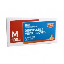 Mr. Easy Guantes Vinilo Desechables Talla L Caja - 100 unidades