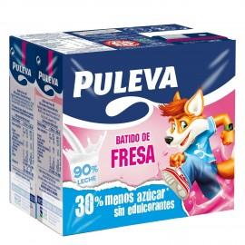 Milky drink Puleva Strawberry Mini-brik Pk-6 200ml