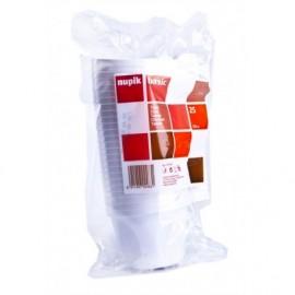 Nupik Tazas de Cafe Blanca Pack 25 unidades