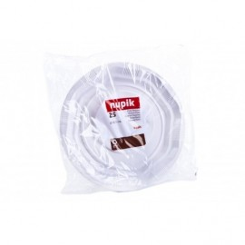 Nupik Platos Plastico Mediano Pack 25 unidades