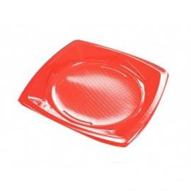 Nupik Platos Plastico Cuadrado Rojo Pack 20 unidades